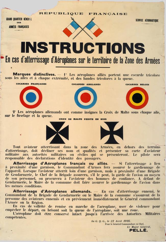 Знаковые отличия самолетов времен Первой Мировой