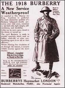 постер военного плаща Берберри