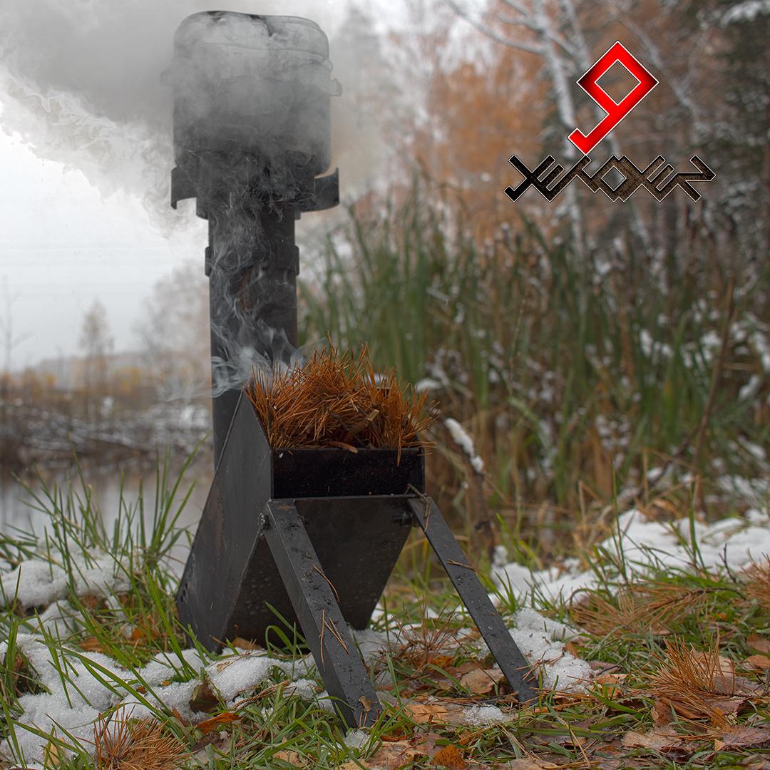 Печка ракета своими руками